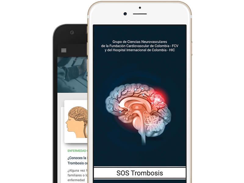 SOS Trombosis app móvil