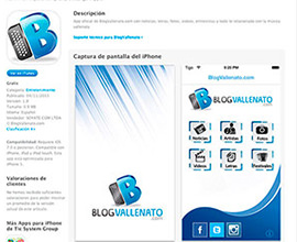 BlogVallenato app móvil